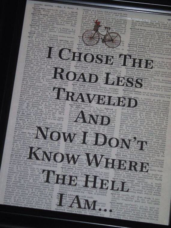The road less traveled | Quotes | Pinterest