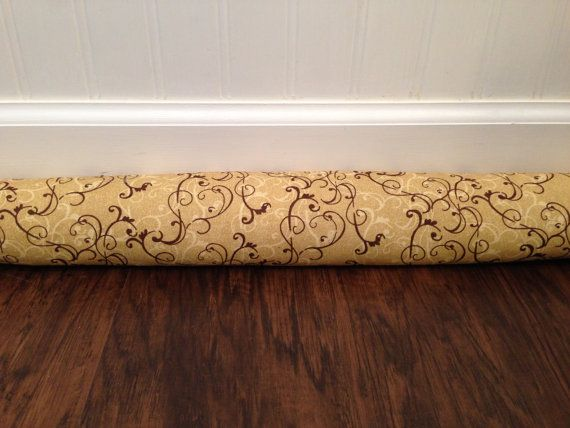 Elegant gold and brown pattern that adds a beautiful touch to your home decor that can & 20 best Door draft stoppers door draft blockers door snake ... pezcame.com