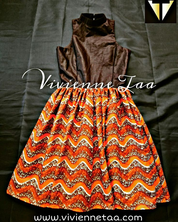 African print cocktail dress