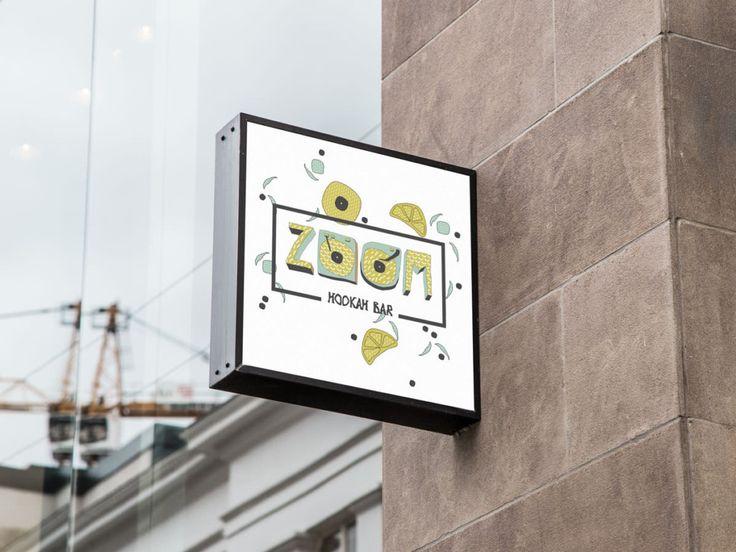 archventil - brand identity - graphics and illustration - hookah bar - zoom - yellow-mint-orange-black- signage