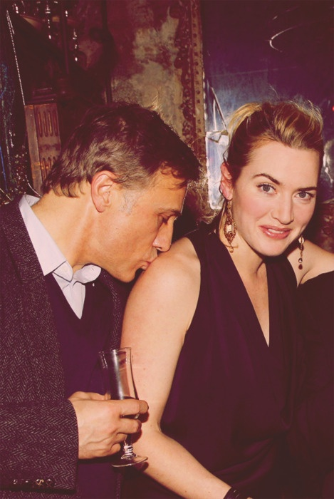 [carnage] Christoph Waltz Kate Winslet. Don't know if they're together, but I love the casual shoulder kiss <3