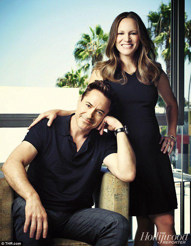Robert Downey jr & Susan Downey : Hollywood magazine photoshoot
