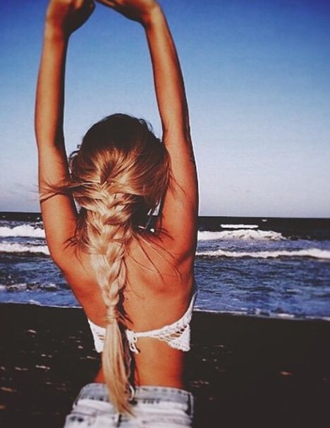 Summer Braids :: Beach Hair :: Natural Waves :: Festival :: Long + Blonde :: Messy Manes :: Free your Wild :: See more Untamed DIY Simple + Easy Hairstyle Tutorials + Inspiration @untamedorganica