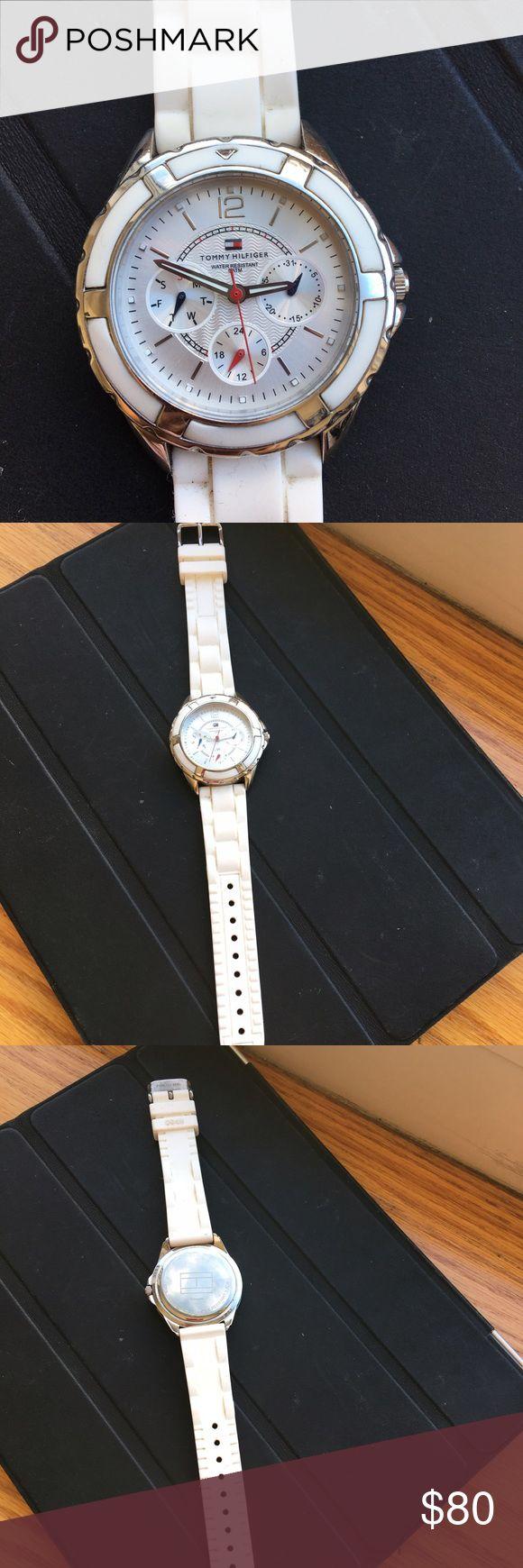 Tommy Hilfiger wrist watch Ladies Tommy Hilfiger wrist watch in white color. Tommy Hilfiger Other