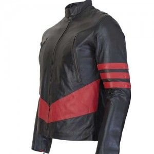 Best Sale Offer Black And Red Leather X Man Jacket   £100.00 www.leatherjacketuk.com