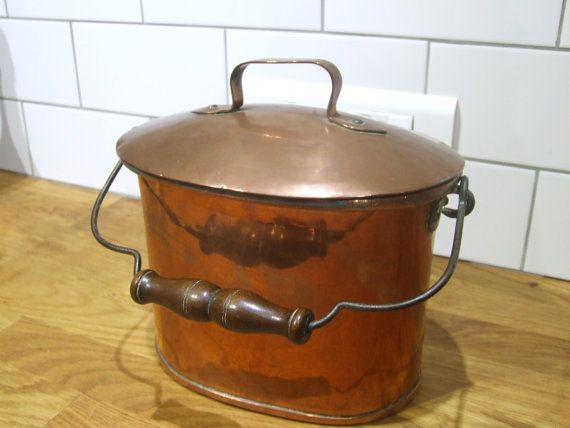 Copper Lunchbox // French Antique  Copper by VintageRetroOddities
