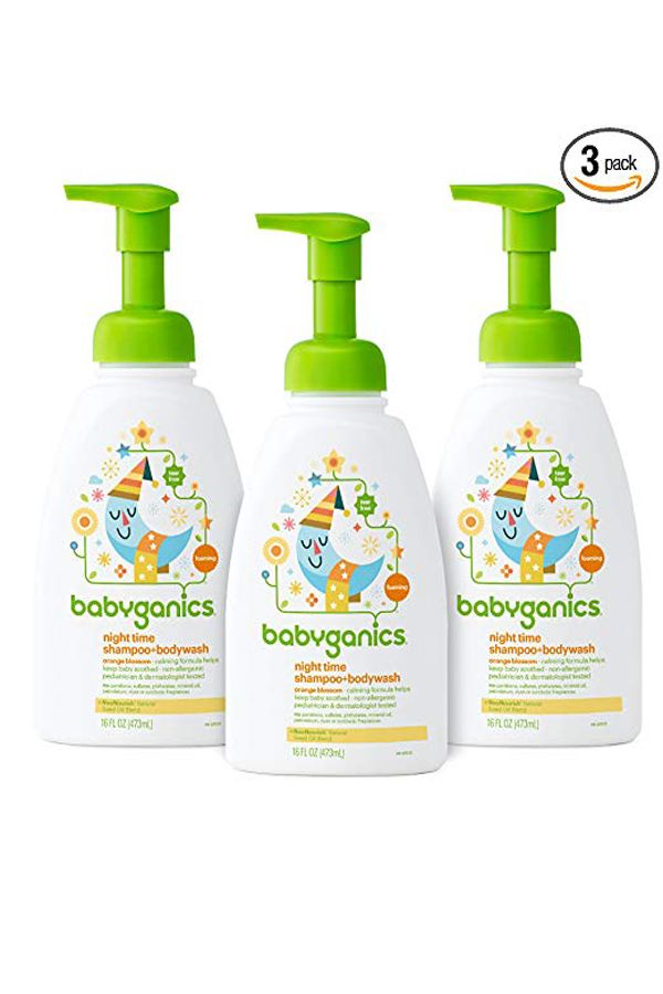 Babyganics Baby Shampoo Body Wash Orange Blossom 16oz Pump