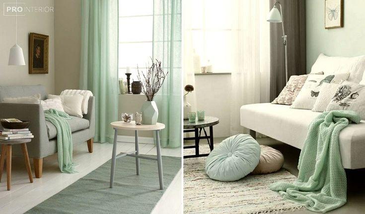 комната в мятном цвете