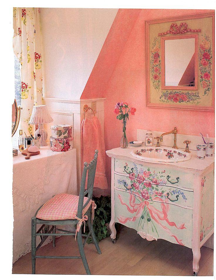 best 140 shabby chic bathrooms images on pinterest. Black Bedroom Furniture Sets. Home Design Ideas