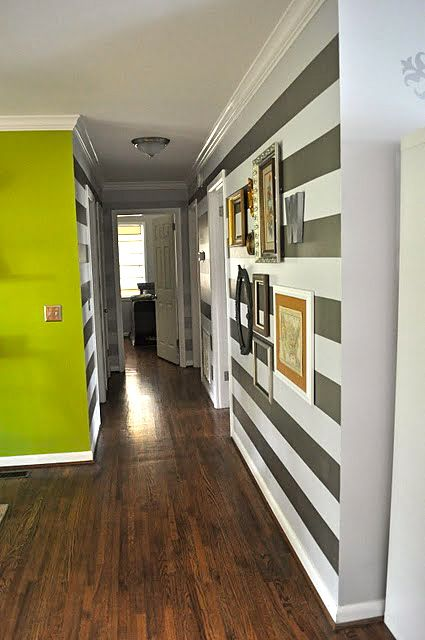 Ok, this is freaky. This is exactly how our hallway is set up. And that is exactly how we want the stripes. And that is very close to what I want our new floors to look like. Weird.