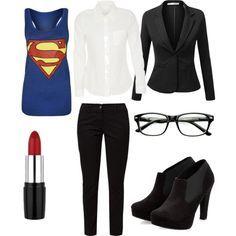 Female Clark Kent - Liana's Halloween costume 2014