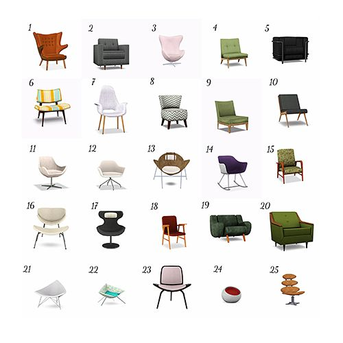 19 best images about mid century on pinterest rocking for All types of chairs
