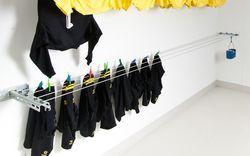 Wäscheleine |  Beispiel Trockenraum: Lübra Apparatebau AG