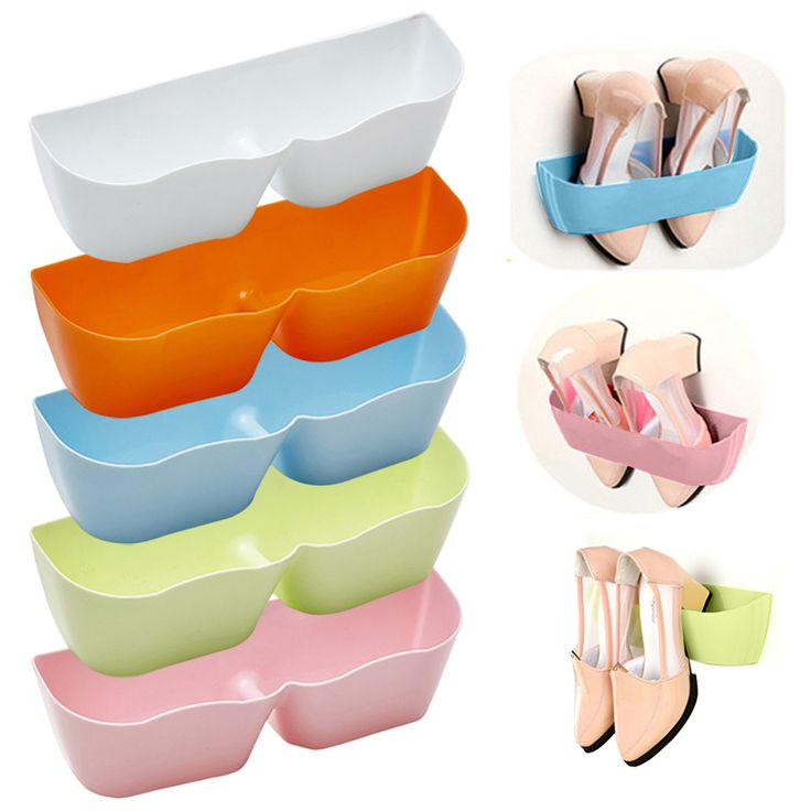 Cheap shoe deodorant, Buy Quality shoes chic directly from China shelf kitchen Suppliers:   Creative Adhesive Shoe Rack Plastic Shoe Shelf Stand Wall Hanging Shoes Storage Organizer Hanger 3M Stickers  LS