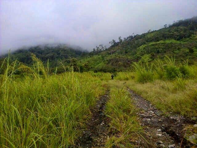 Fog covered mountain, Gegarang Village