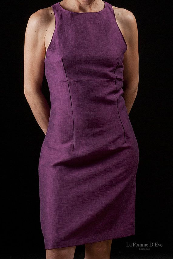 Purple Summer Dress by La Pomme D'Eve by lapommedeve on Etsy, €85.00