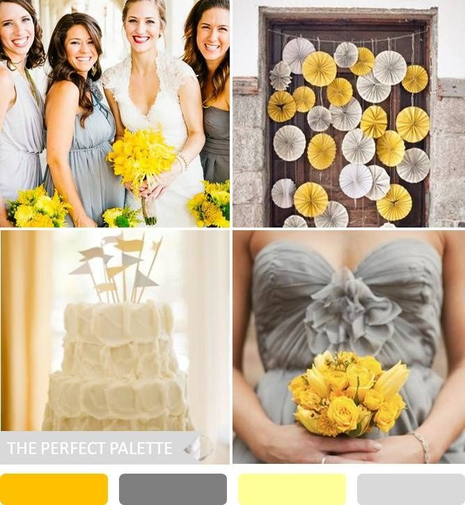 Yellow + Gray The Perfect Palette: 10 Wedding Color Palettes That Aren't Boring!