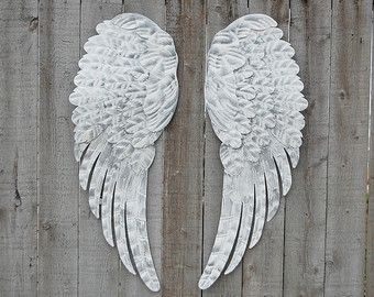 Grande angelo ali decorazione della parete di TheVintageArtistry