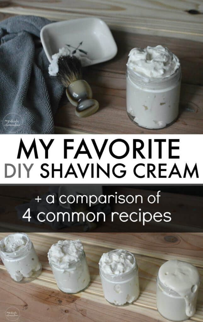Want to make your own natural shaving cream, but don't know what recipe to use? Click in to read our favorite homemade version, as well as a comparison of 4 common diy shaving cream recipes, so you can find the one that will truly be best and easiest for you! All ingredients are non-toxic, eco friendly, plant-based, cheap, and simple! - Rubies & Radishes
