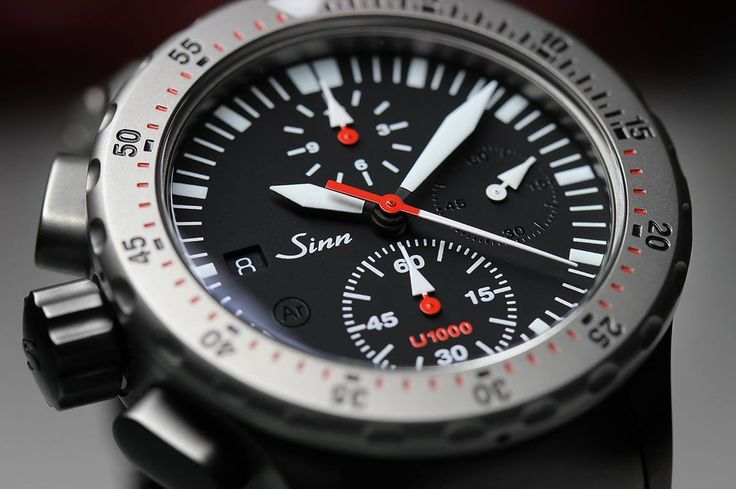 Sinn U1000 (EZM 6) Diving Watch – the Superlative Diving Chronograph.  A diver needs equipment that is 100% reliable. SINN manufactures watches that meet the toughest safety standards for use at great depths.