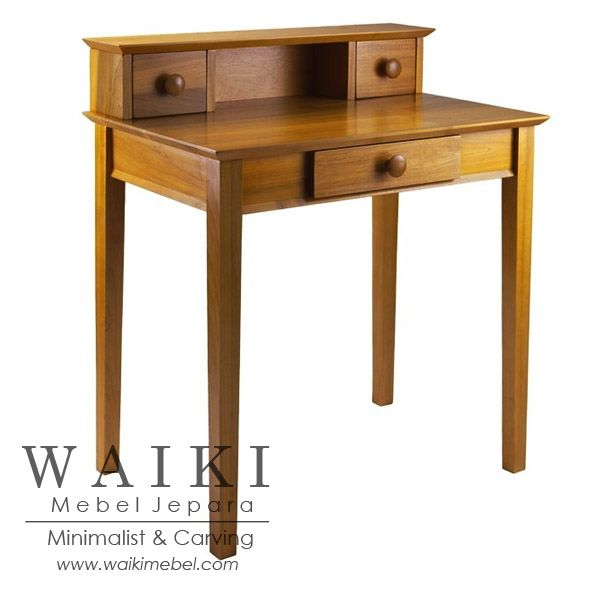 May Desk meja kerja desain minimalis Top Storages. Waiki Mebel produsen meja kerja jati model minimalis modern Jepara teak furniture at factory price.