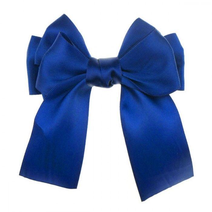 Haarstrik satijn glans in de kleur blauw