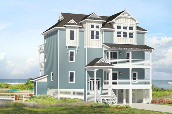 Hatteras retreat 7 bedroom ocean front home in buxton for Building a house in nc