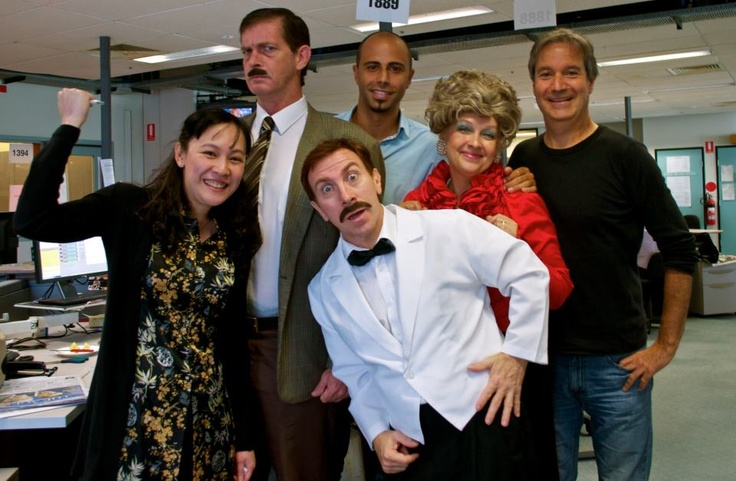 Karen Hamilton (Sybil), Ron Kelly (Basil) and Andy Foreman (Manuel) visited Radio Australia while performing at Melbourne International Comedy Festival.
