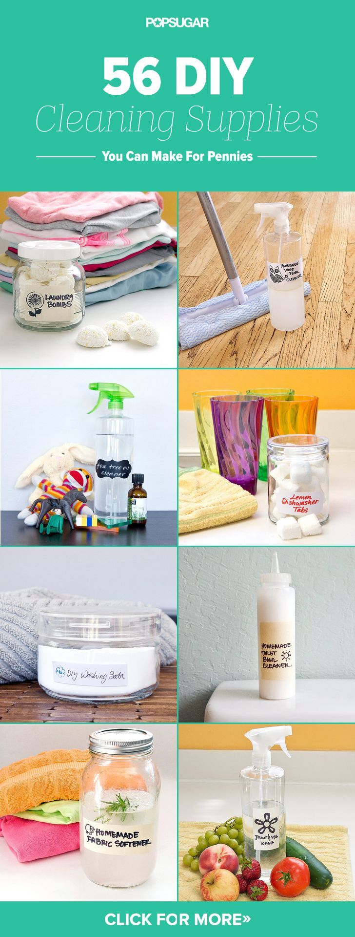 Make These 56 DIY Cleaning Products For Pennies Cleaning tips, cleaning schedule, green cleaning #green