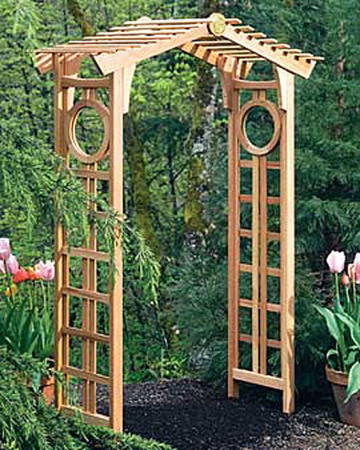 Longevity cedar garden arch garden arbor gardener 39 s for Garden arches designs