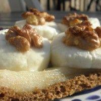 Toast met peer, geitenkaas en honing : Recepten van Domy