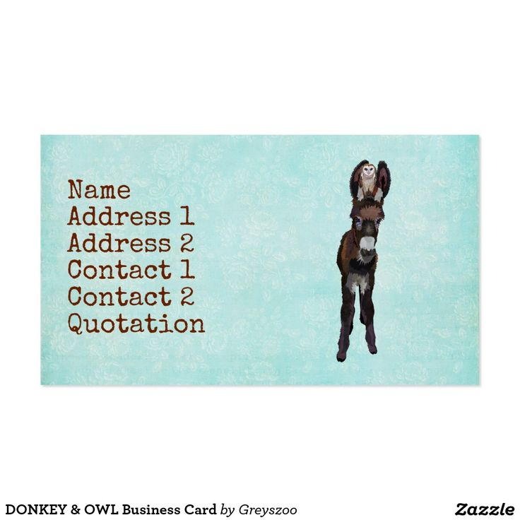 The 8 best ANIMAL INSPIRED BUSINESS CARDS images on Pinterest ...
