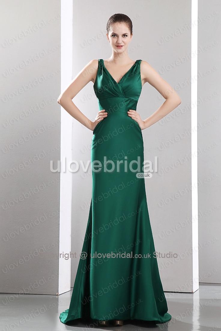 12 best Dark green dresses images on Pinterest | Green bridesmaid ...