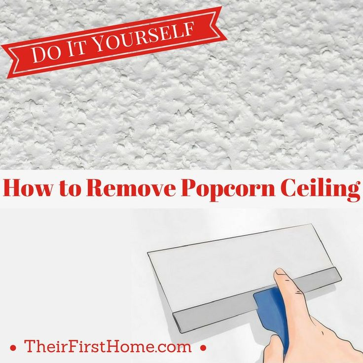 Remove Popcorn Ceiling- DIY