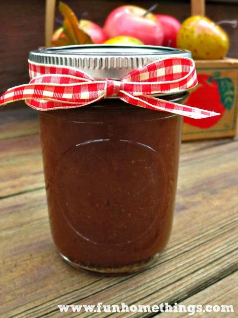 Recipes for fall--crock pot apple butter