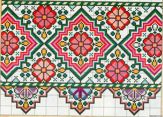 cross-stitch Turkish motif ... no color chart, just use pattern chart colors as your guide.. or choose your own colors.