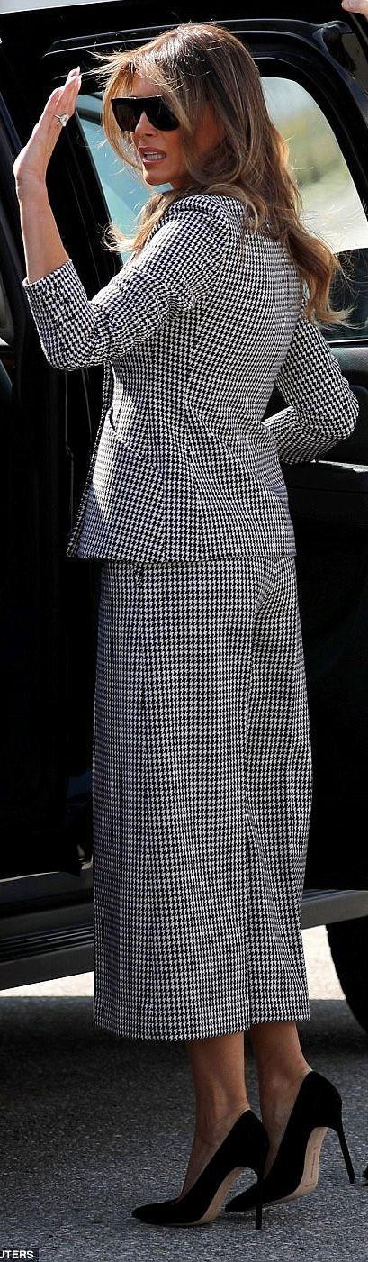 First Lady Melanie Trump in Dior