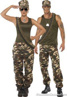khaki couple costumes halloween costumes for couples 2013 - Boys Army Halloween Costumes