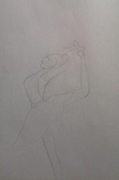Dibujo de bailarina: error. Ahí no hay un dibujo, hay una catástrofe
