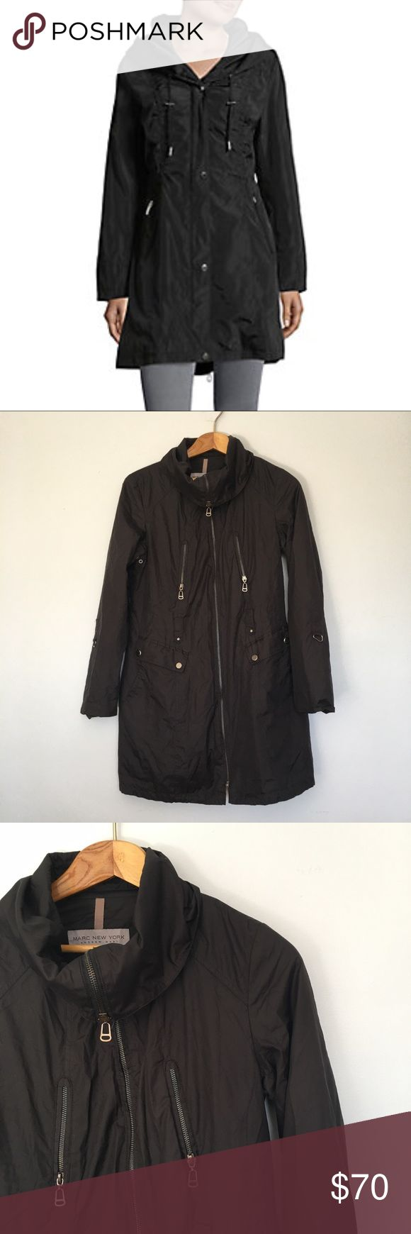 Andrew Marc New York Anorak Rain Jacket Andrew Marc New York Anorak Rain Jacket. Like new condition. First coat is a similar coat by the same brand the last two pictures is the same jacket but in blue. Andrew Marc Jackets & Coats