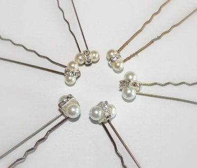 DIY bead and pearl hair pins | Personalized hair accessories for the ...