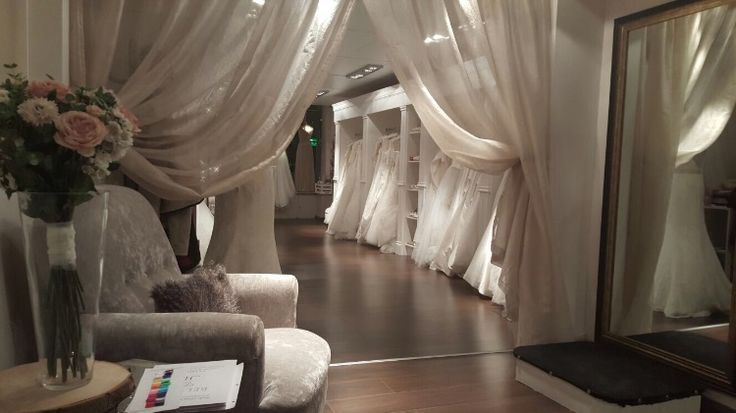 CocoMio Bridal has a beautiful showroom offering a selection of stunning wedding dresses and bridesmaid dresses