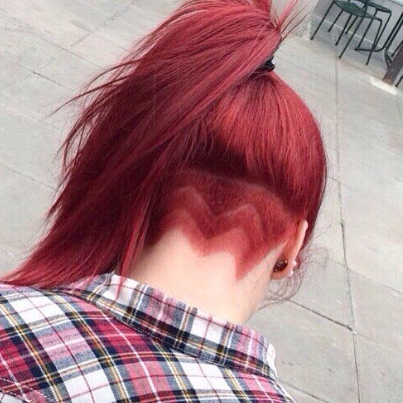Red Hair, Ponytail, Undercut: