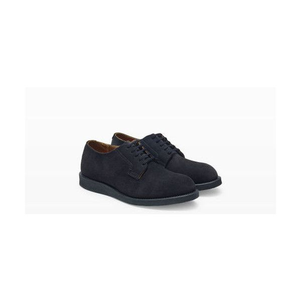 Red Wing Red Wing Postman Suede in Color Black ($199) ❤ liked on Polyvore featuring men's fashion, men's shoes, black, mens oxford shoes, mens suede oxford shoes, mens black oxford shoes, mens black shoes and mens shoes