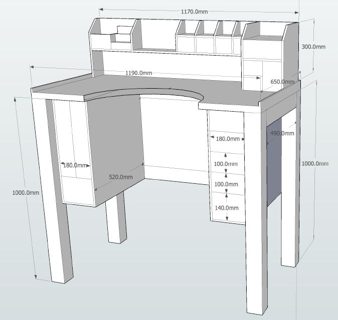 Jewelers Bench plans with dimentions