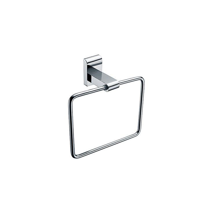 浴室タオルリング タオル掛け タオル収納 ハンガー バス用品 真鍮製 クロム (0640)