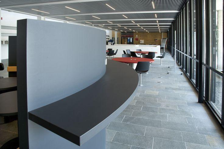 Learning area: DTU – Danmarks Tekniske Universitet - opholdsområde – PO Inventar ¬– Arkitema - overflade - Desktop - Furniture Linoleum - Forbo