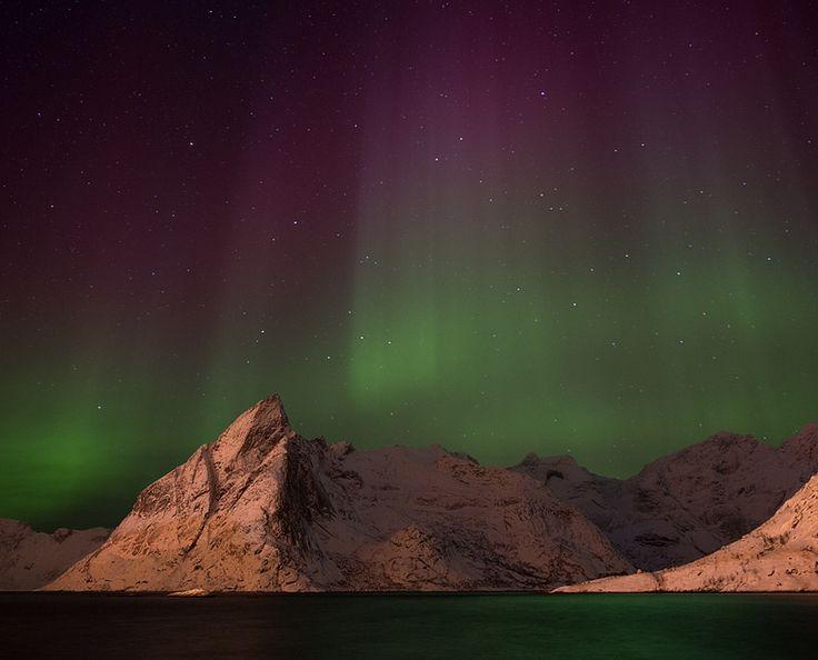 Northern lights, Hamnoy, Norway.