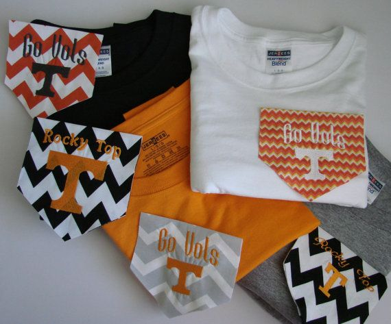 TN Vols Pocket T Shirts  Short Sleeves by BowsToButtons on Etsy