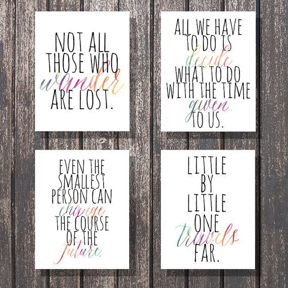 Quotes Included: Not all those who wander are lost.